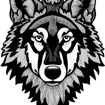 Tono de lobo de madera de Hareguizer