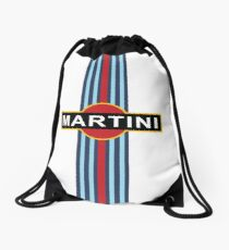 Martini Stripe Racing  Drawstring Bag