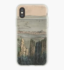 Vintage Pictorial Map of Dublin Bay Ireland (1907) iPhone Case