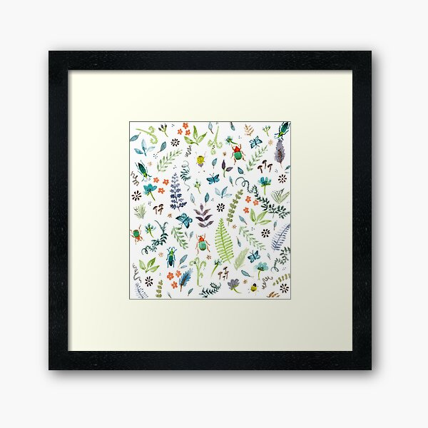 Beetles and Butters Framed Art Print