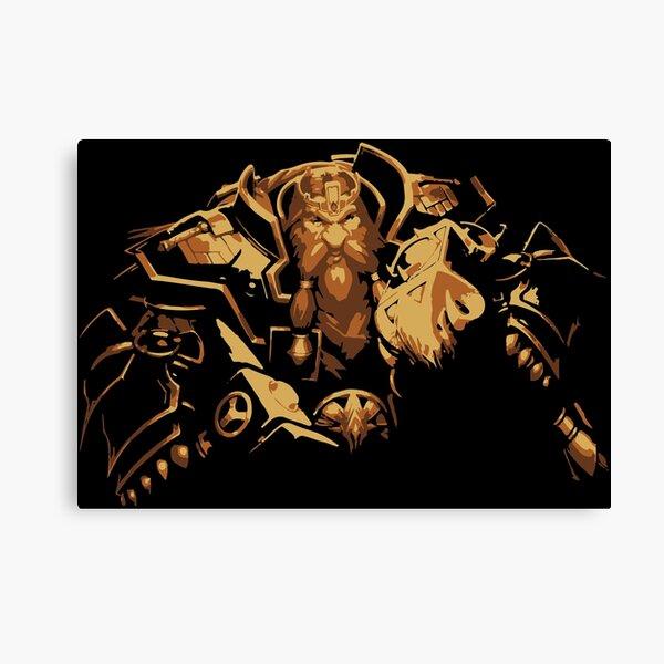 Barbe de bronze Magni Impression sur toile