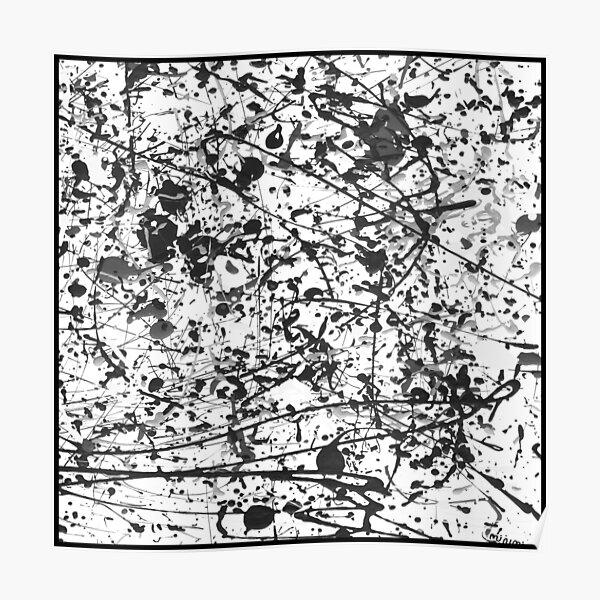 Mijumi Pollock Black and White Poster