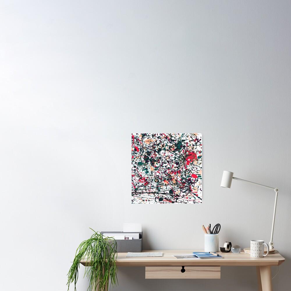 mijumi Pollock Red White Blue Poster