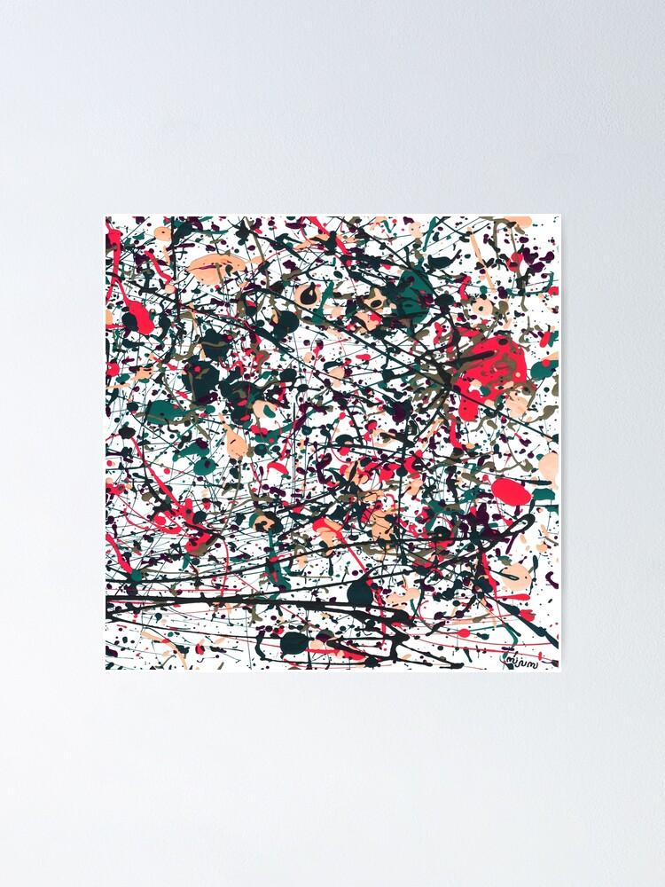 Alternate view of mijumi Pollock Red White Blue Poster