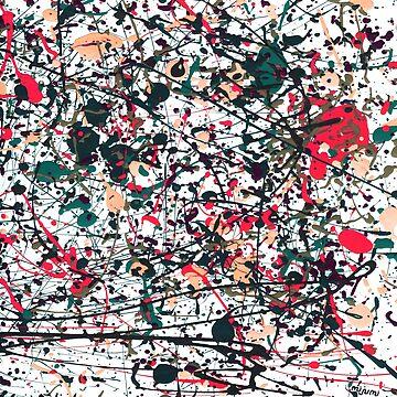 mijumi Pollock Red White Blue by mijumi