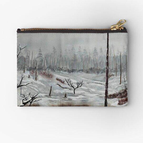 Winter Field Zipper Pouch