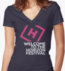 Welcome to the Horizon Festival Women's Fitted V-Neck T-Shirt