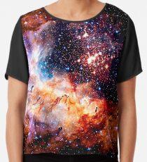 Cosmic Connection, Galaxy, Space, Nebula, Stars, Planet, Universe,  Chiffon Top