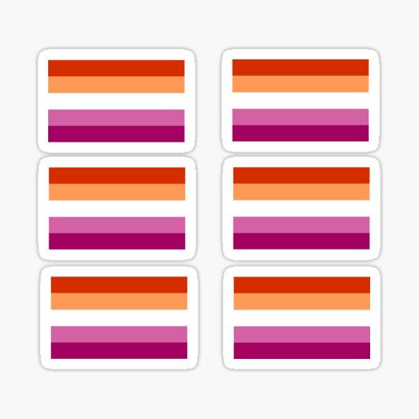 Mini Lesbian Flags Sticker