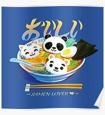 Ramen-Panda-Katzenbär Poster