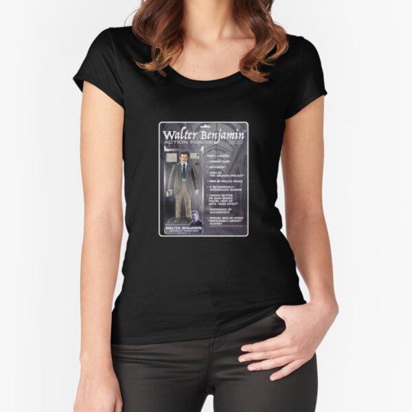 Walter Benjamin Action Figure Fitted Scoop T-Shirt