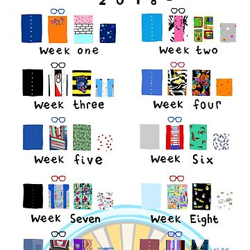 GBBO 2018 Style Chart by lauriepink
