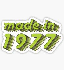 Made in 1977 (Green&Grey) Sticker