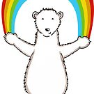 Polar Bear and Rainbow Pattern 6 by helenmccartney