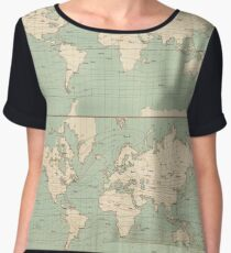 Vintage World Isotherm Map (1850) Chiffon Top