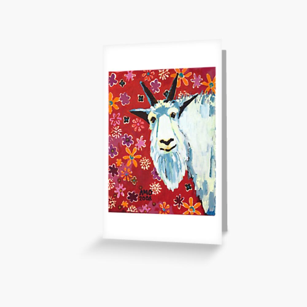 Liberty Goat Greeting Card