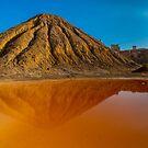 Minas de Mazarron orange pool reflections 2 by Ralph Goldsmith