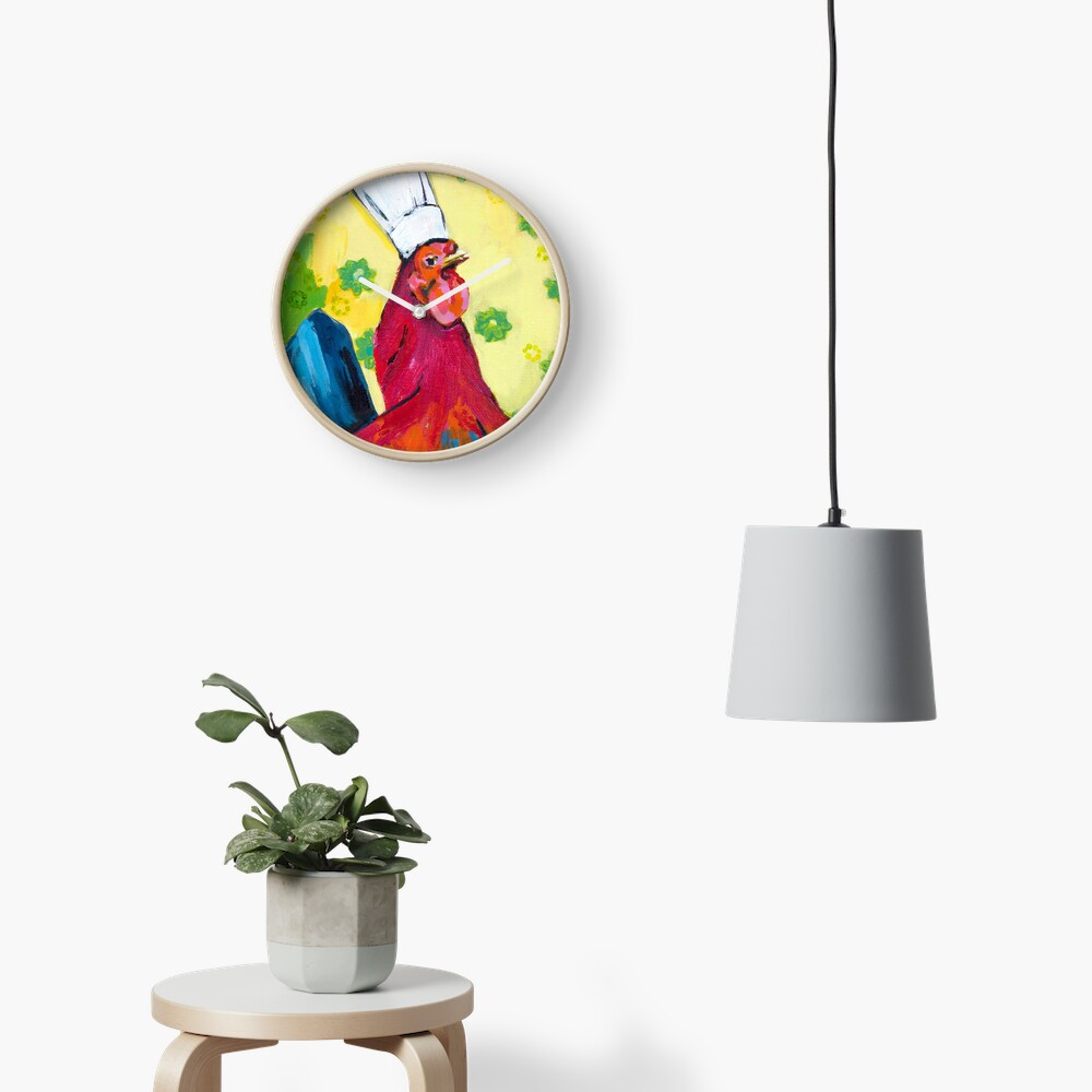 Rooster Chef Clock