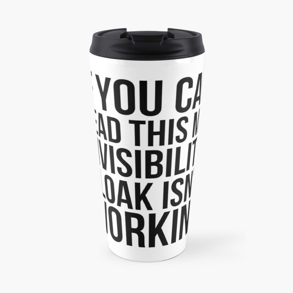 Can you read this? Travel Mug