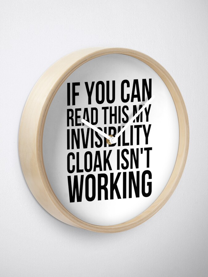 Alternate view of Can you read this? Clock