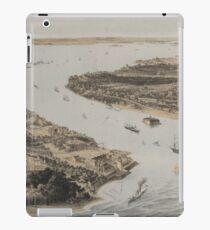 Vintage Pictorial Map of New York City Harbor (1854) iPad Case/Skin