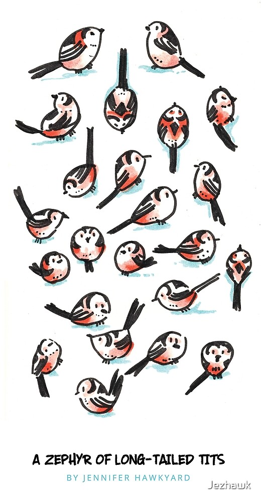 A Zephyr of Long Tailed Tits by Jezhawk
