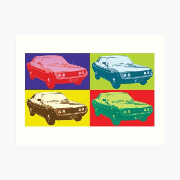 Toyota Celica TA22 Warhol pop art style Art Print