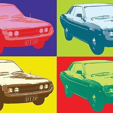 Toyota Celica TA22 Warhol pop art style by neroli