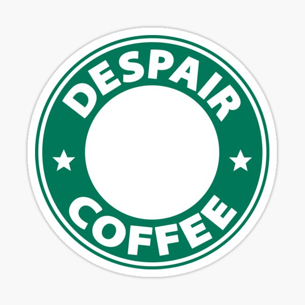 Café Desesperado / Danganronpa Pegatina