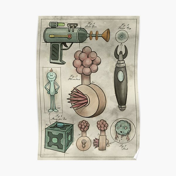 Rick and Morty - Vintage Gadgets #2 Poster