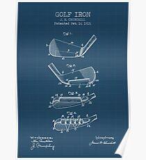 GOLF IRON blueprint Poster