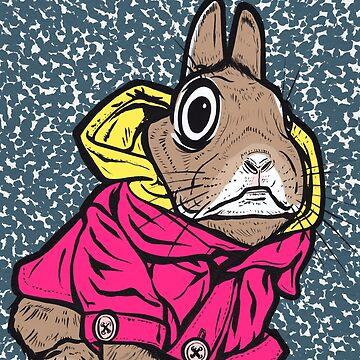 Brown Bunny Hoodie by turddemon