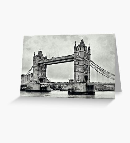 Vintage Tower Bridge Greeting Card