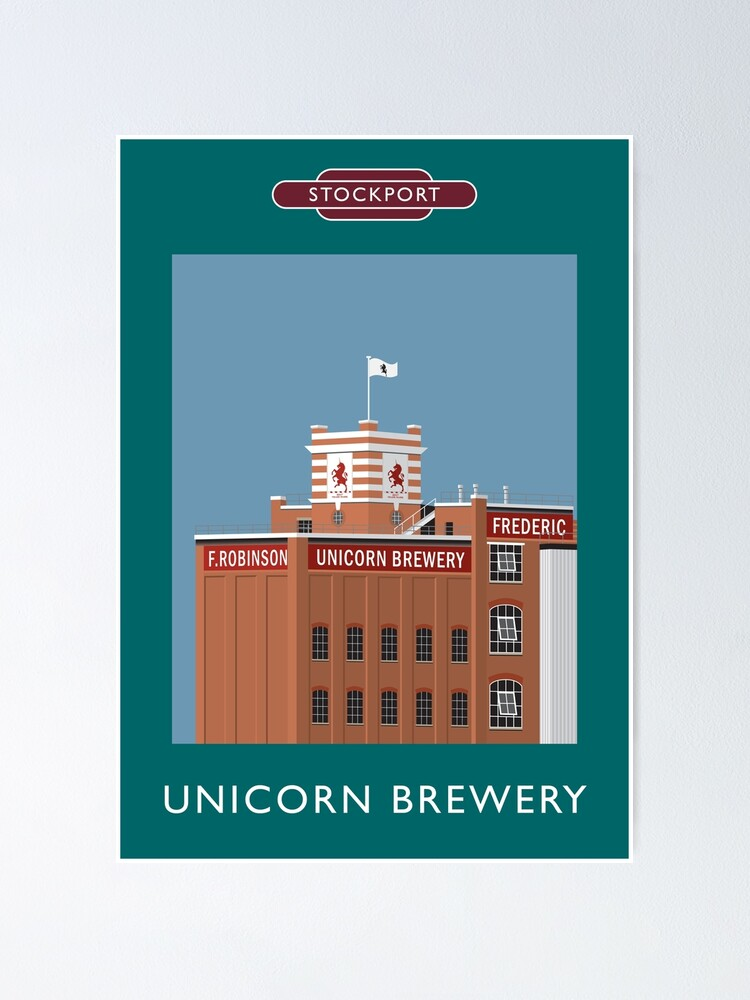 Alternate view of STOCKPORT - Unicorn Brewery Poster