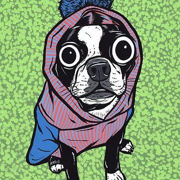 Boston Terrier Sweater Hoodie by turddemon