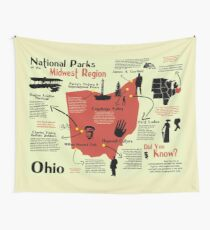 Tela decorativa Mapa Pictórico de Parques Nacionales de Ohio