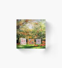 A Country Autumn Acrylic Block