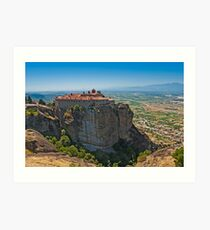 Holy Monastery of St. Stephen, Meteora Art Print