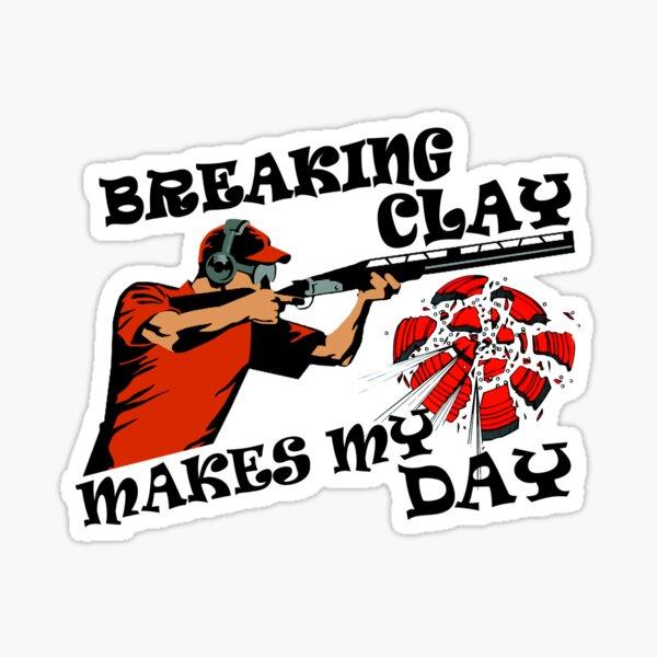 Clay Pigeon Shooting gift - Shot Gun Skeet Trap Target Clay Breaker Sticker