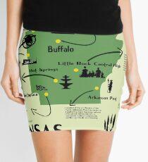 Arkansas National Parks Infographic Map  Mini Skirt
