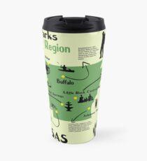 Arkansas National Parks Infographic Map  Travel Mug
