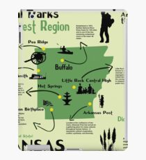 Arkansas National Parks Infographic Map  iPad Case/Skin