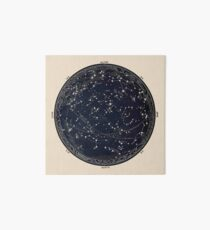 Antique Map of the Night Sky, 19th century astronomy Art Board