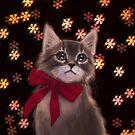 Weihnachtskätzchen von ARiAillustr
