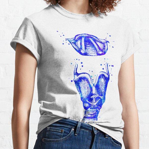Larynx, larynx and vocal cord, watercolor larynx, mouth anatomy Classic T-Shirt