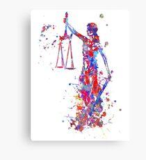Lady justice, watercolor lady justice, lady justice print, lady justice art, watercolor art, watercolor print Canvas Print