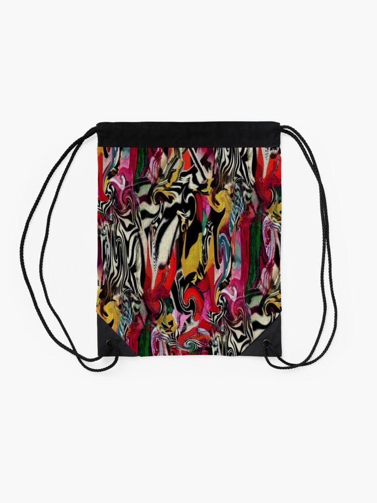 Alternate view of Zebra Dream Drawstring Bag