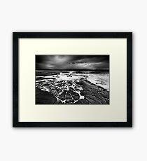 Stormy dawn Framed Print