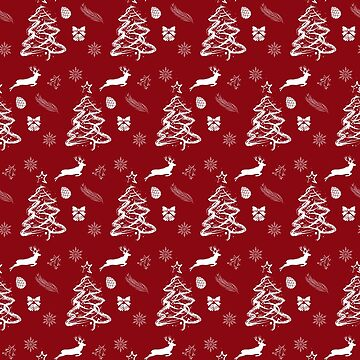 Christmas Red Pattern  by famenxt