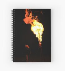Working the Gas Flare Spiral Notebook